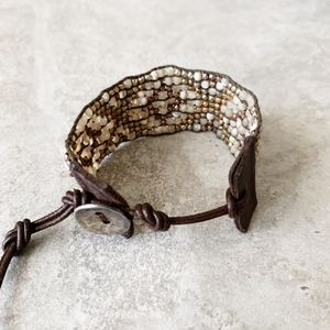 Chan Luu Jewelry - Chan Luu White Mother of Pearl Mix Cuff Bracelet